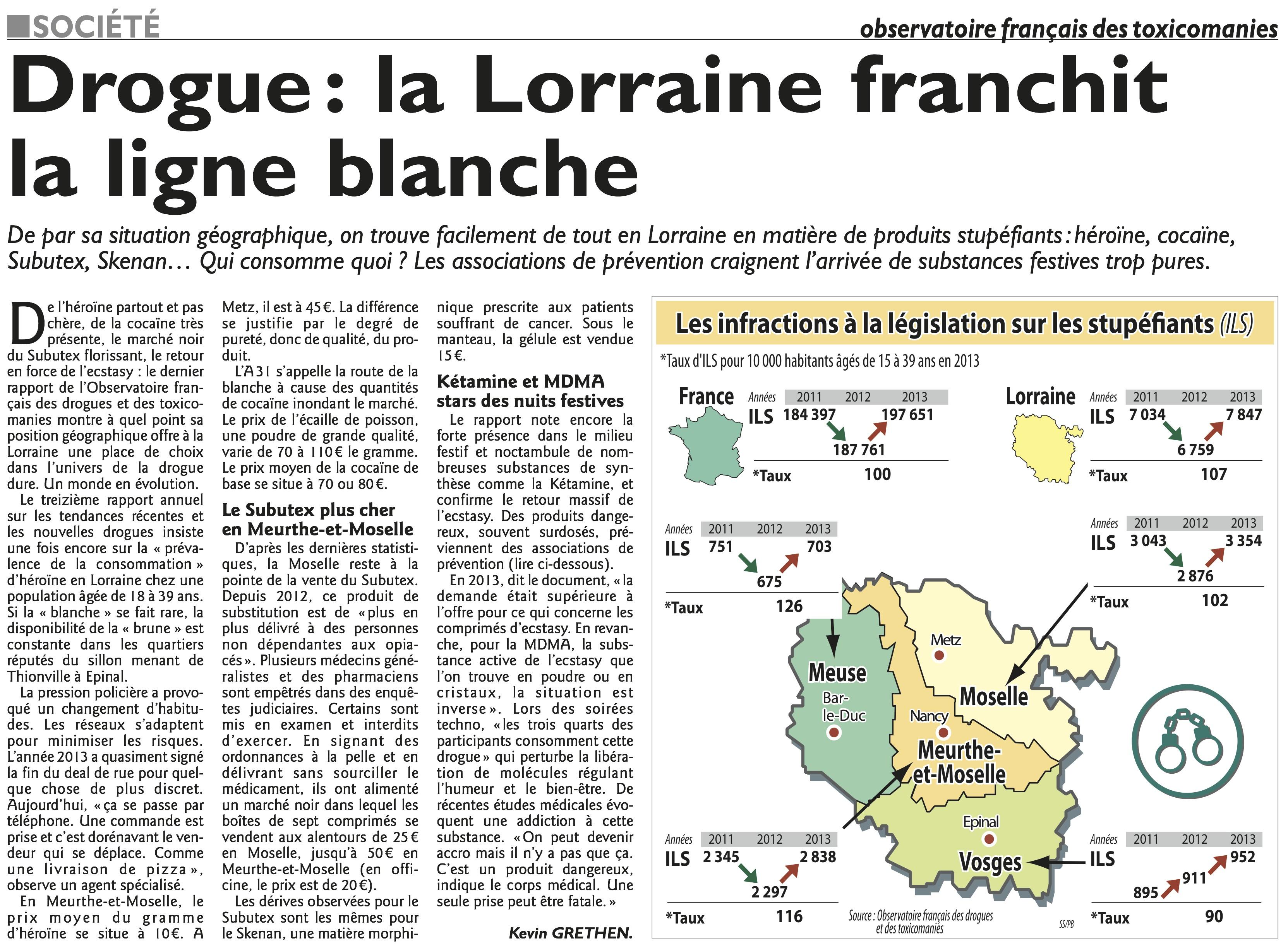 Publication dans le républicain lorrain du rapport Trend 2014 de Metz Lorraine